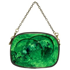 Green Bubbles Chain Purse (two Sided)  by Siebenhuehner