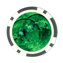 Green Bubbles Poker Chip (10 Pack) by Siebenhuehner