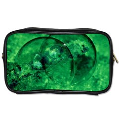 Green Bubbles Travel Toiletry Bag (one Side) by Siebenhuehner