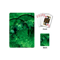 Green Bubbles Playing Cards (mini) by Siebenhuehner