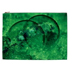 Green Bubbles Cosmetic Bag (xxl) by Siebenhuehner