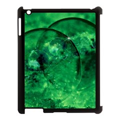 Green Bubbles Apple Ipad 3/4 Case (black) by Siebenhuehner