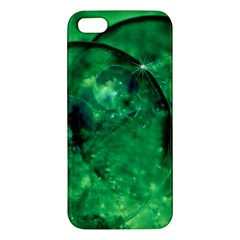 Green Bubbles iPhone 5S Premium Hardshell Case