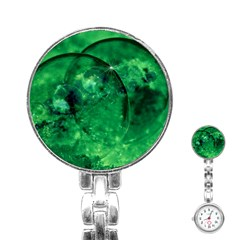 Green Bubbles Stainless Steel Nurses Watch by Siebenhuehner