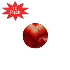 Love 1  Mini Button (10 Pack) by Siebenhuehner
