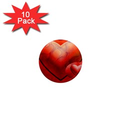 Love 1  Mini Button Magnet (10 Pack) by Siebenhuehner