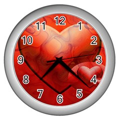 Love Wall Clock (silver) by Siebenhuehner