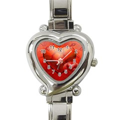 Love Heart Italian Charm Watch  by Siebenhuehner