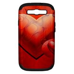 Love Samsung Galaxy S Iii Hardshell Case (pc+silicone) by Siebenhuehner