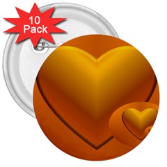 Love 3  Button (10 pack) by Siebenhuehner