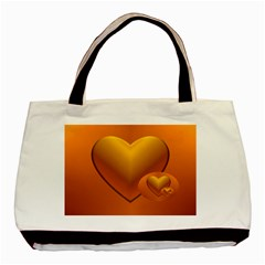 Love Twin Sided Black Tote Bag by Siebenhuehner