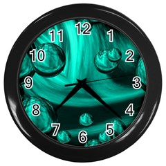 Space Wall Clock (black) by Siebenhuehner