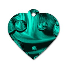 Space Dog Tag Heart (one Sided)  by Siebenhuehner