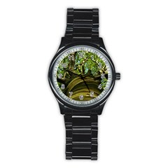 Tree Sport Metal Watch (black) by Siebenhuehner