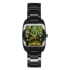 Tree Men s Stainless Steel Barrel Analog Watch by Siebenhuehner