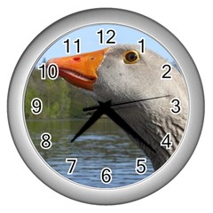 Geese Wall Clock (silver)