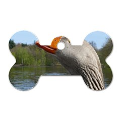 Geese Dog Tag Bone (one Sided)