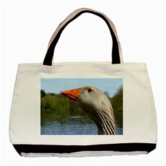 Geese Twin Sided Black Tote Bag