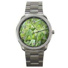 Bamboo Sport Metal Watch by Siebenhuehner
