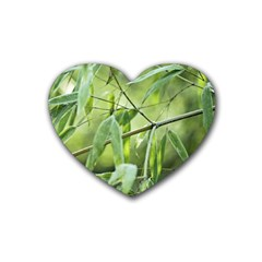 Bamboo Drink Coasters 4 Pack (heart)  by Siebenhuehner