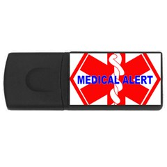 MEDICAL ALERT HEALTH IDENTIFICATION SIGN 2GB USB Flash Drive (Rectangle) by youshidesign