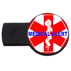 Medical Alert Health Identification Sign 4gb Usb Flash Drive (round) by youshidesign