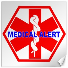 Medical Alert Health Identification Sign Canvas 20  X 20  (unframed) by youshidesign