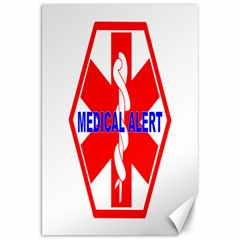 Medical Alert Health Identification Sign Canvas 20  X 30  (unframed) by youshidesign