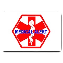 Medical Alert Health Identification Sign Large Door Mat by youshidesign