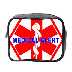 Medical Alert Health Identification Sign Mini Travel Toiletry Bag (two Sides) by youshidesign