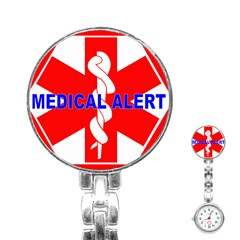 Medical Alert Health Identification Sign Stainless Steel Nurses Watch by youshidesign