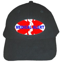 Medical Alert Health Identification Sign Black Baseball Cap by youshidesign