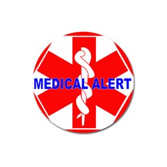 Medical Alert Health Identification Sign Magnet 3  (round) by youshidesign