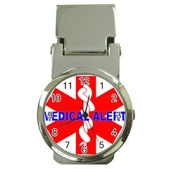 Medical Alert Health Identification Sign Money Clip With Watch by youshidesign