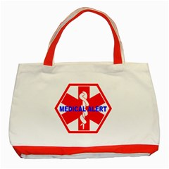 Medical Alert Health Identification Sign Classic Tote Bag (red) by youshidesign