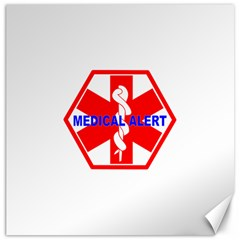 Medical Alert Health Identification Sign Canvas 16  X 16  (unframed) by youshidesign