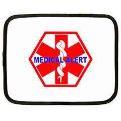 Medical Alert Health Identification Sign Netbook Case (large) by youshidesign