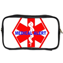 Medical Alert Health Identification Sign Travel Toiletry Bag (two Sides) by youshidesign