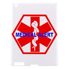 Medical Alert Health Identification Sign Apple Ipad 3/4 Hardshell Case by youshidesign