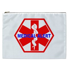Medical Alert Health Identification Sign Cosmetic Bag (xxl) by youshidesign