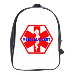 Medical Alert Health Identification Sign School Bag (xl) by youshidesign