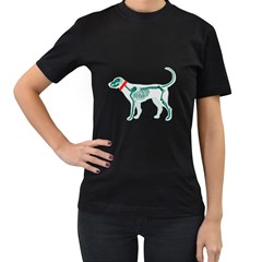 Dog Anatomy X Ray Womens' Two Sided T Shirt (black)