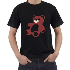 Teddy Bear Toy  Mens' Two Sided T Shirt (black) by Contest1736797
