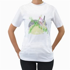 No Rabbits And  Bunnys Around  Womens  T Shirt (white) by Contest1736797