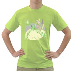 No Rabbits And  Bunnys Around  Mens  T Shirt (green) by Contest1736797