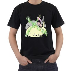 No Rabbits And  Bunnys Around  Mens' Two Sided T Shirt (black) by Contest1736797