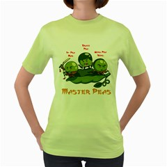 Master Peas Womens  T Shirt (green)