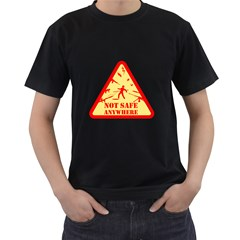 Not Safe Anywhere Mens' T Shirt (black) by Contest1732250