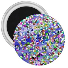Ying Yang 3  Button Magnet by Siebenhuehner