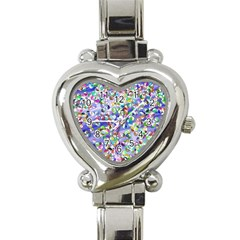 Ying Yang Heart Italian Charm Watch  by Siebenhuehner